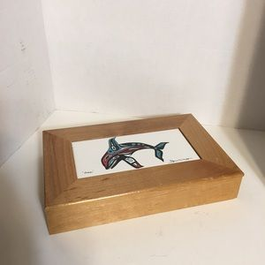 "Storage & Organization - Native Art ""Orca"" Trinket Box!"